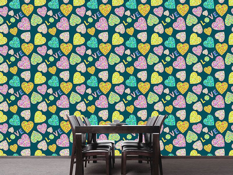 Pattern Wallpaper Heart And Love