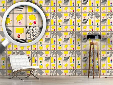 Pattern Wallpaper Talking Eggs
