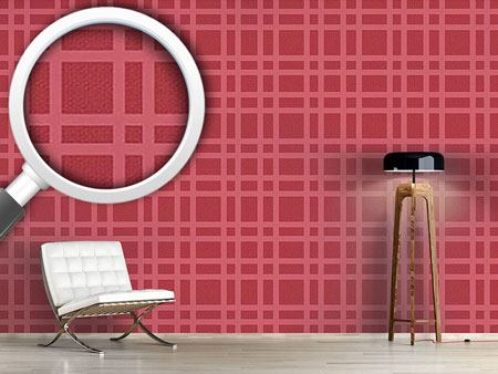 Pattern Wallpaper Checked Bricks