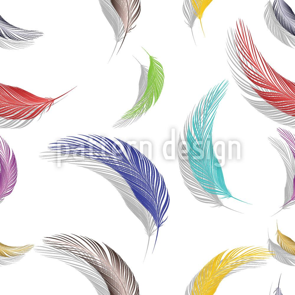 Carta da parati Colorful Feather Pattern