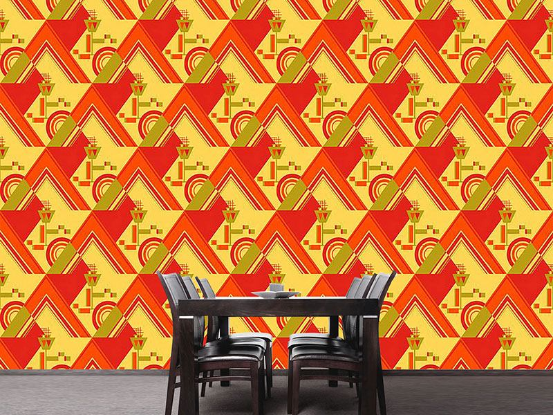 Pattern Wallpaper Deco Triangles