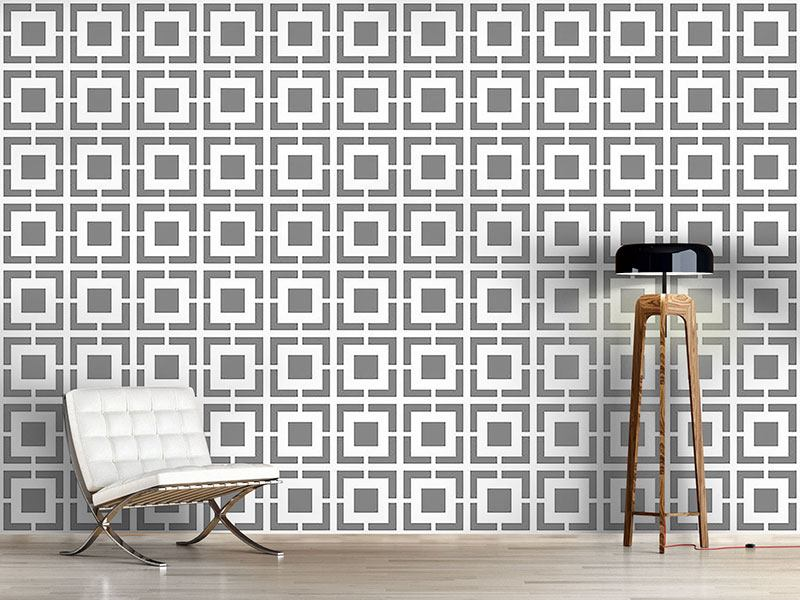 Pattern Wallpaper Monochrome Lattice