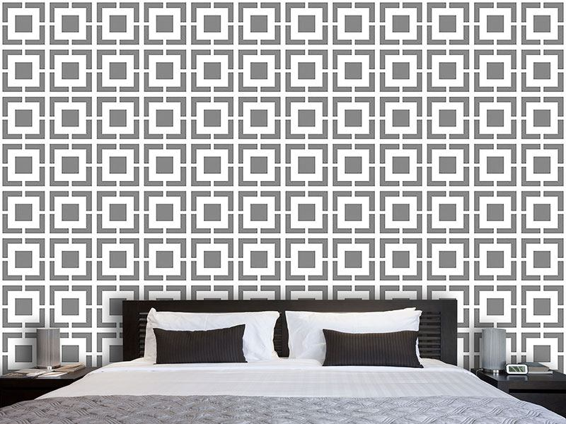 Papier peint design Monochrome Lattice