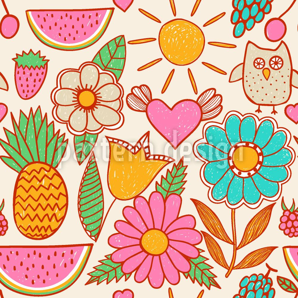 Pattern Wallpaper Owls On Vacation