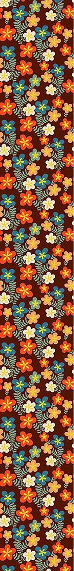 Pattern Wallpaper Retro Flower Bouquets