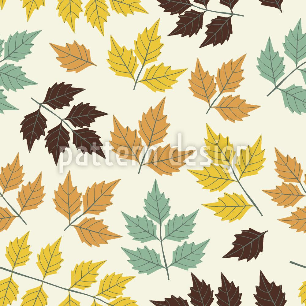 Papier peint design First Symphony Of Leaves