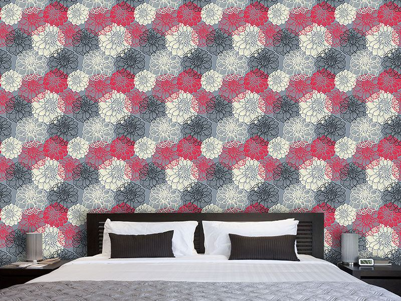 Pattern Wallpaper Bohemia Dahlia