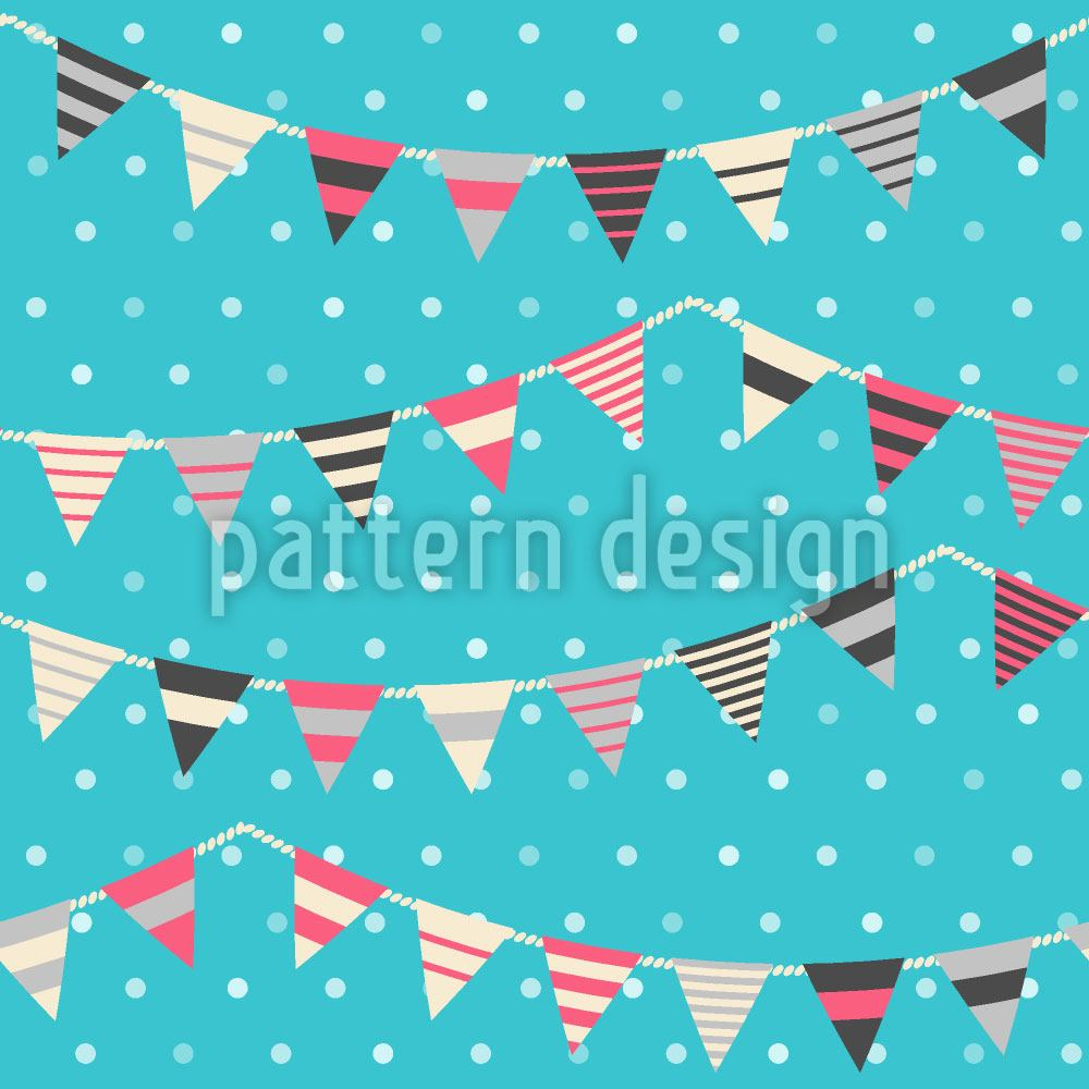 Pattern Wallpaper Garlands On Polkadots