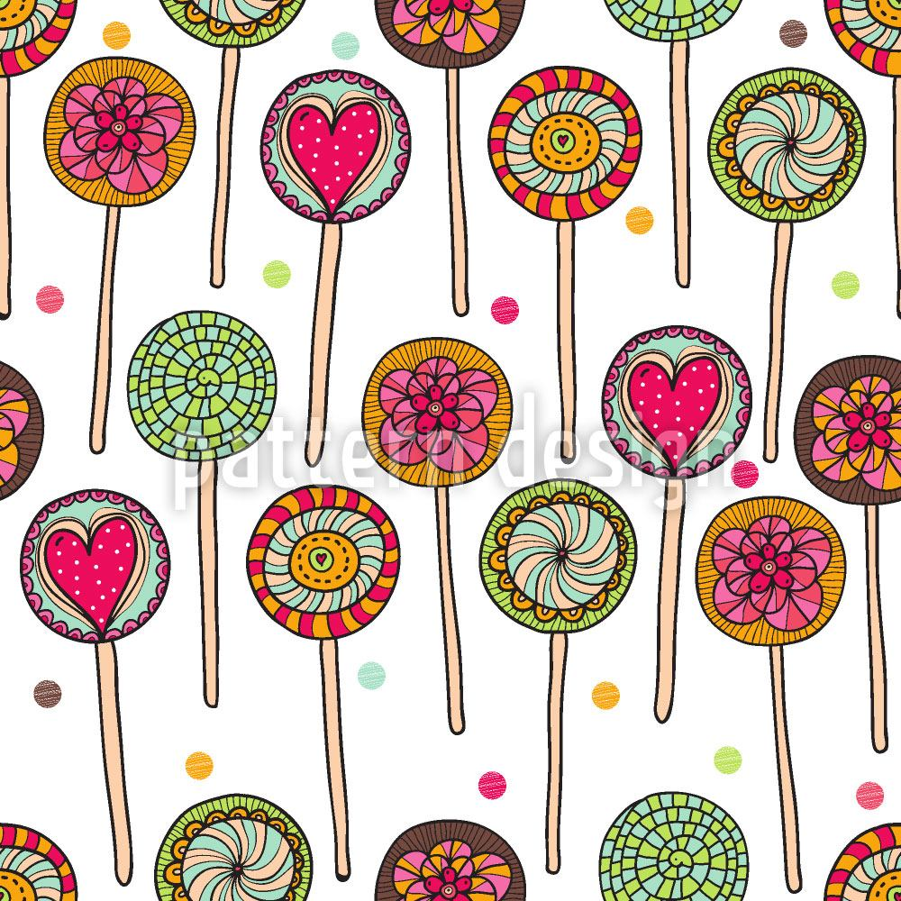 Papier peint design I Love Lollies