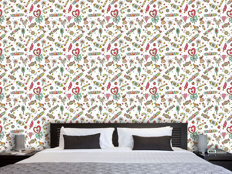 Pattern Wallpaper Sweet Temptations