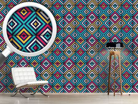 Pattern Wallpaper Folded Squares