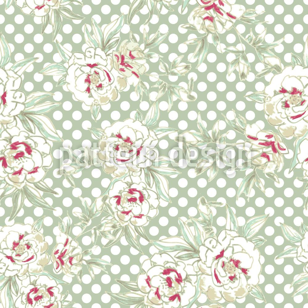 Papier peint design Roses And Polkadots