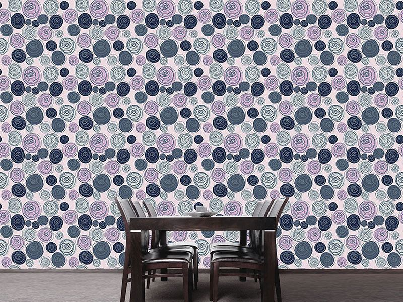 Pattern Wallpaper Buttercup Blossoms