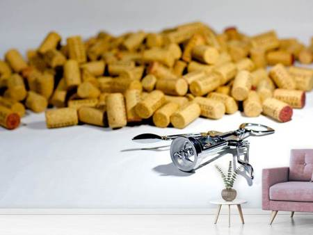 Fotobehang Wine corks collection