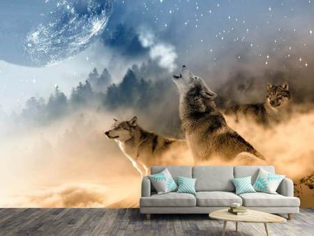 Fotobehang The world of wolves
