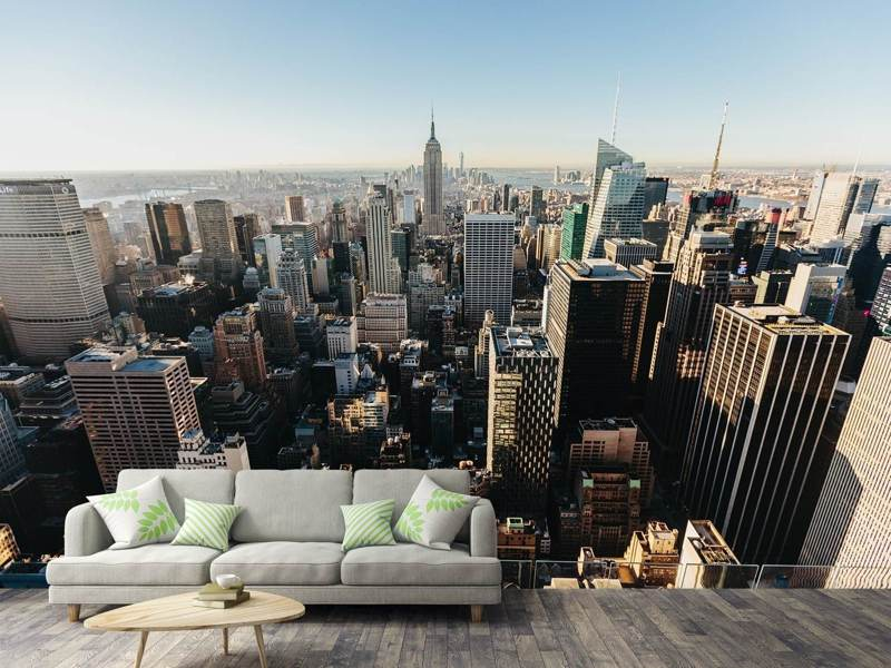 Photo Wallpaper Over the roofs of NYC