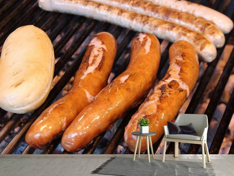 Photo Wallpaper Grilled sausage