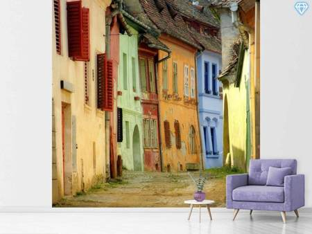 Photo Wallpaper Colorful Street