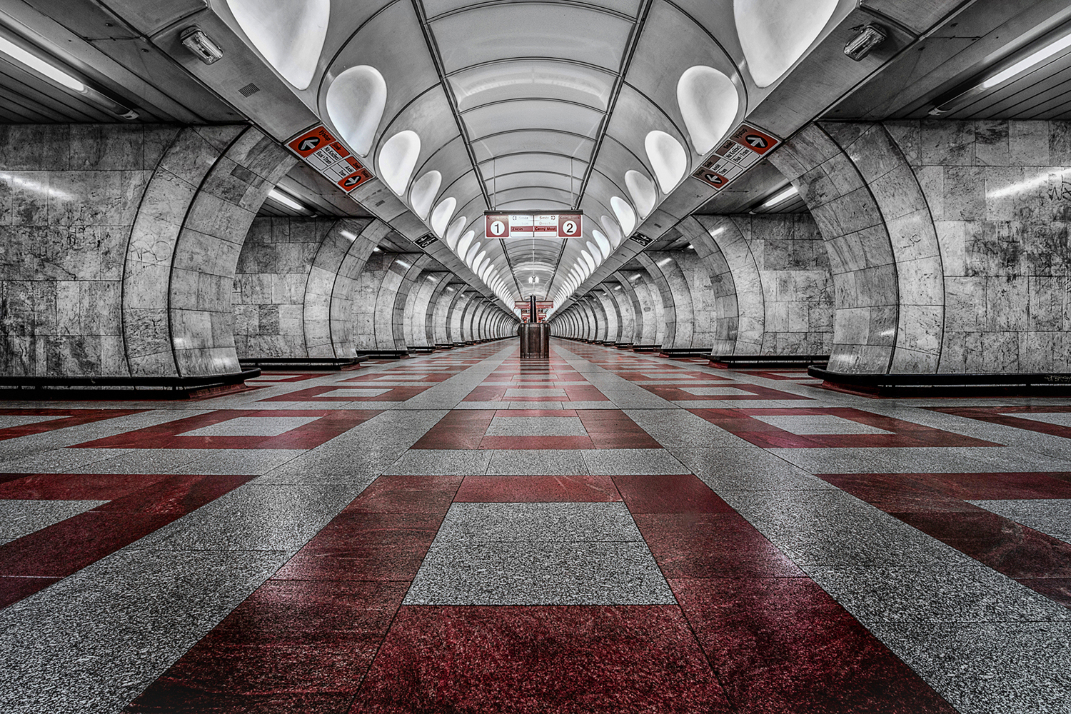 Papier peint photo Prague Metro