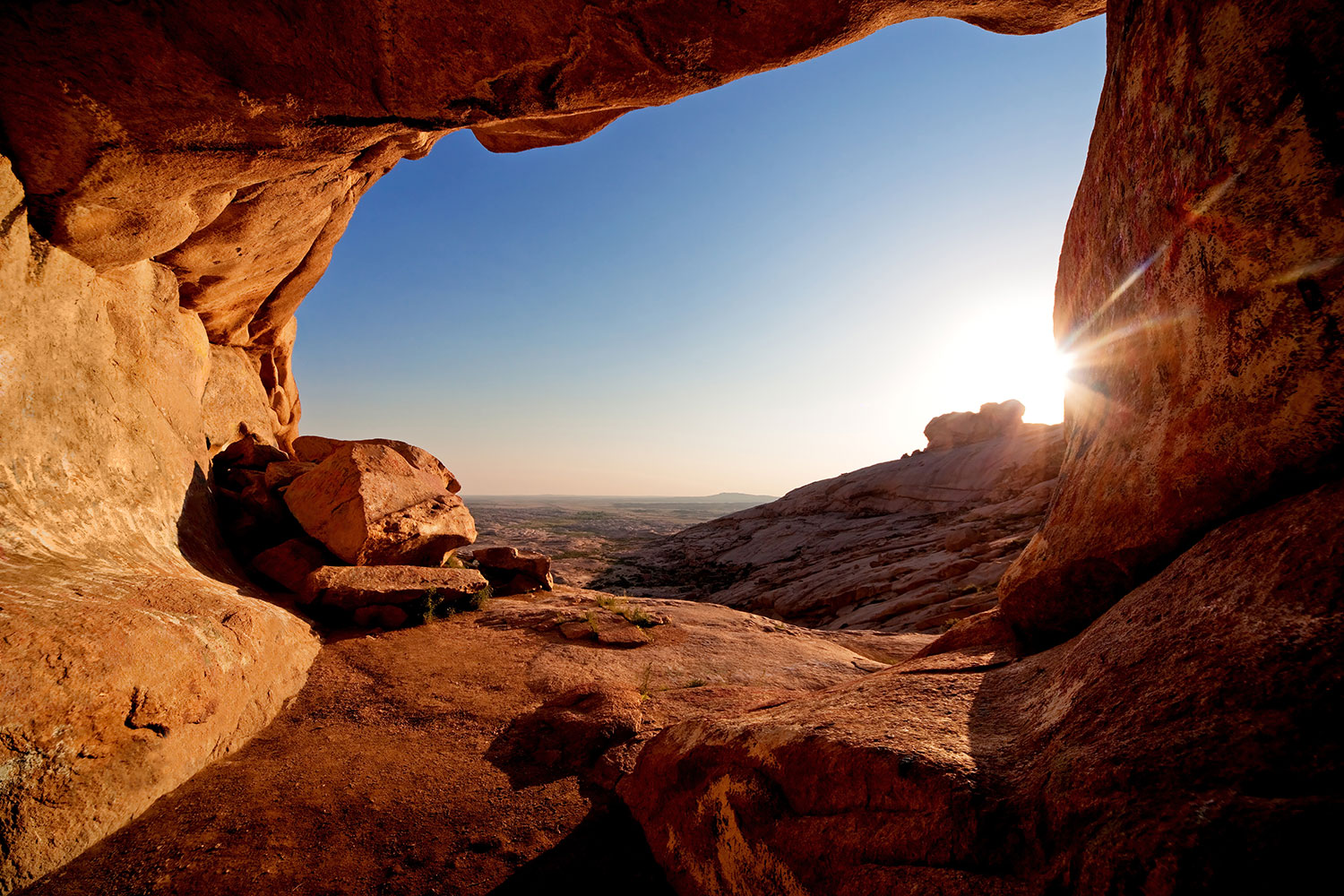 Photo Wallpaper Sunset In Front Of The cave