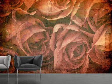 Photo Wallpaper Rose Bouquet