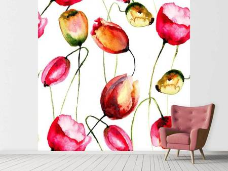 Fotobehang Painting The Tulips