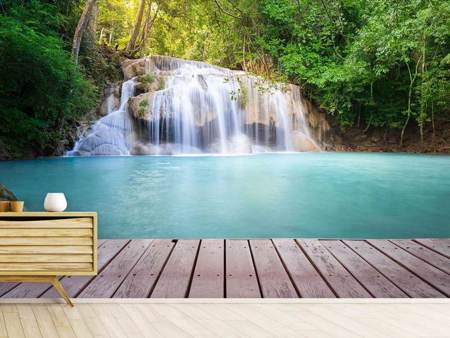 Photo Wallpaper Terrace At The Waterfall