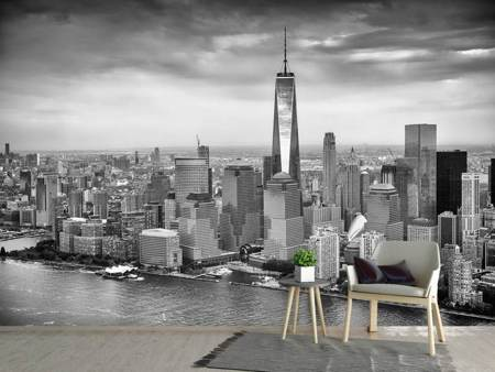 Fotobehang Skyline Black And White Photography New York